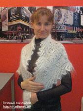 пуховый платок на новый год